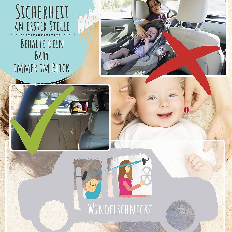 PANGHU Baby R/ückspiegel Sicherheit Auto R/ücksitz Baby Easy Sight Verstellbar Verstellbar Praktisch Niedlich Babyphone.