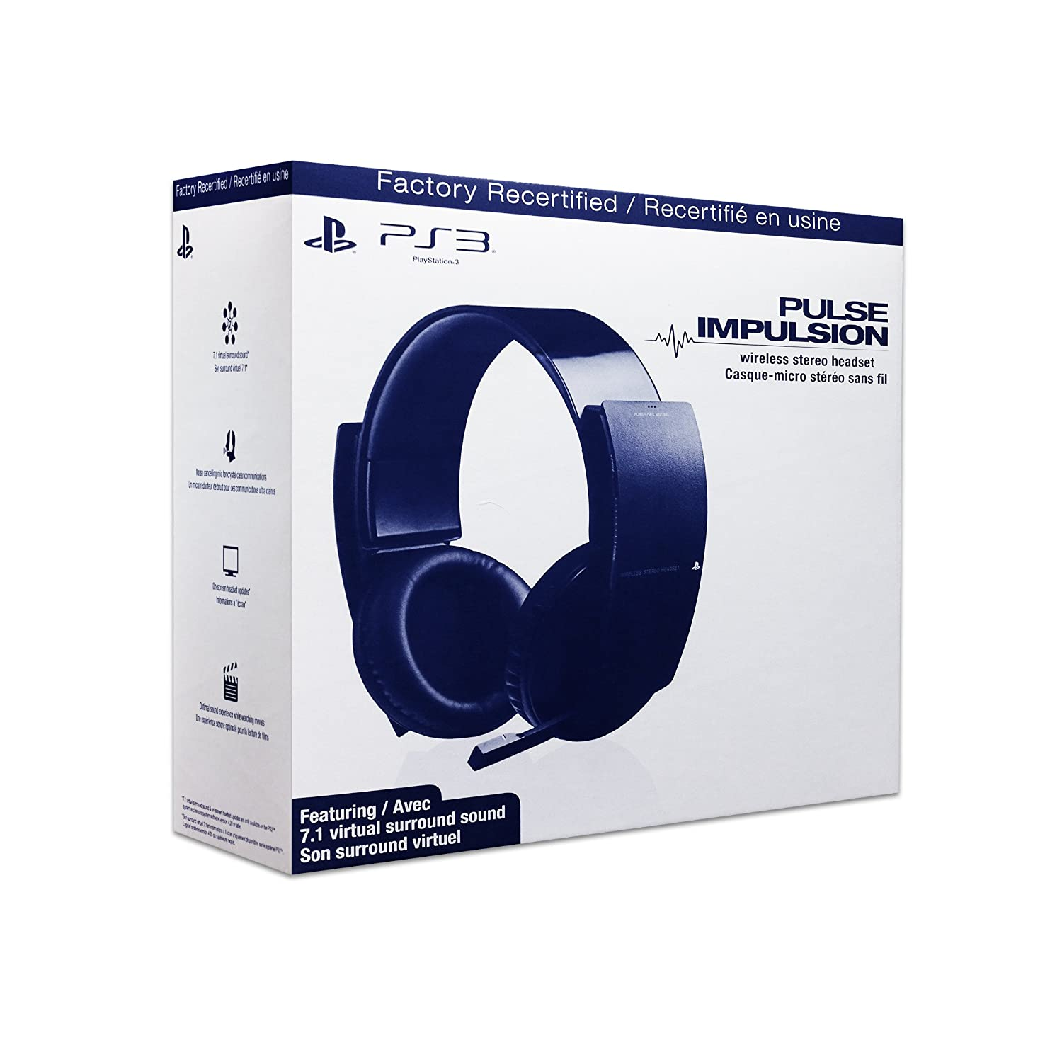 PS3 Wireless Stereo Headset – Factory Recertified