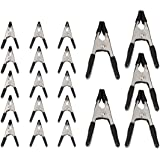 Amazon Basics 20-Piece Steel Spring Clamp Set - 15 Pieces 3/4-Inch, 5 Pieces 1-Inch