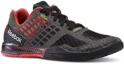 Reebok Crossfit Compete 6:14 Womens Training Shoe 5 Black-Neon Cherry-Chalk
