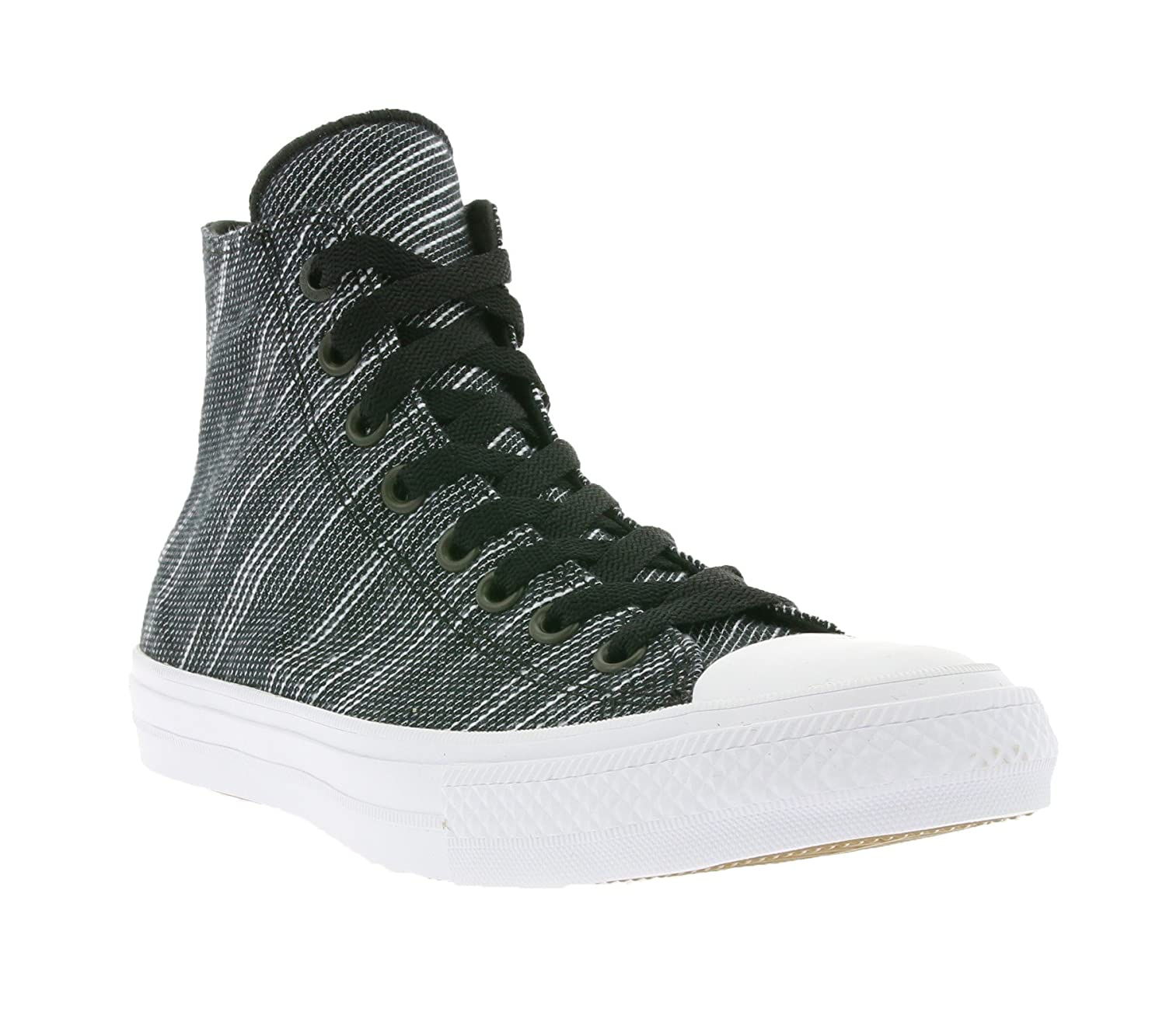3f35d2ea7327 Converse Chuck Taylor All Star II Knit Hi Black White Navy Textile Athletic  Shoes