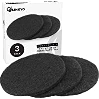 """LINKYO Activated Carbon Compost Bin Filter Refill Pack - Set of 3 Odor Absorbing Charcoal Filters (7.25"""" diameter)"""