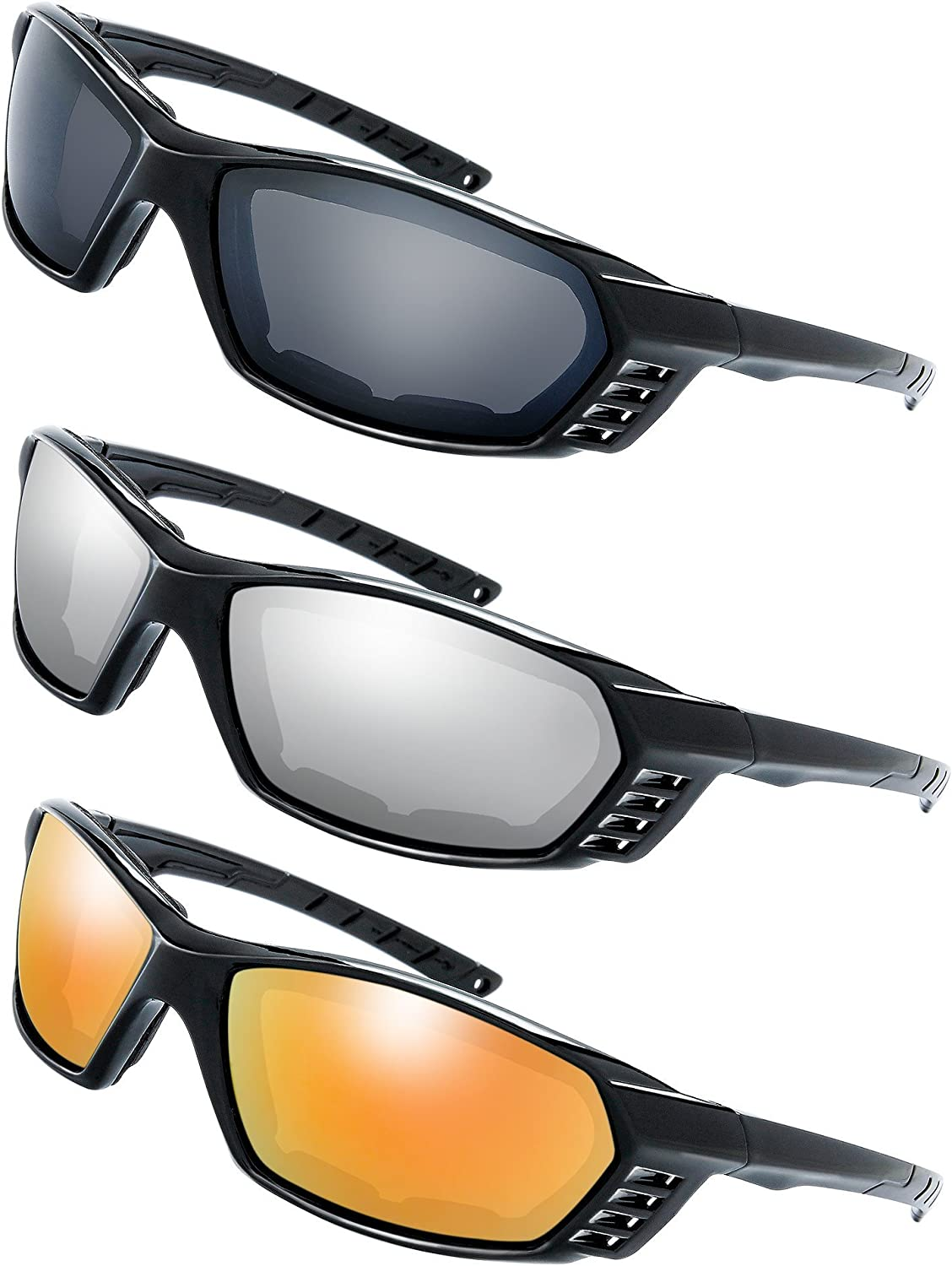 Cycling//Sports Sunglasses Mirrored//Smoke Lenses Full UV Protection Free Case