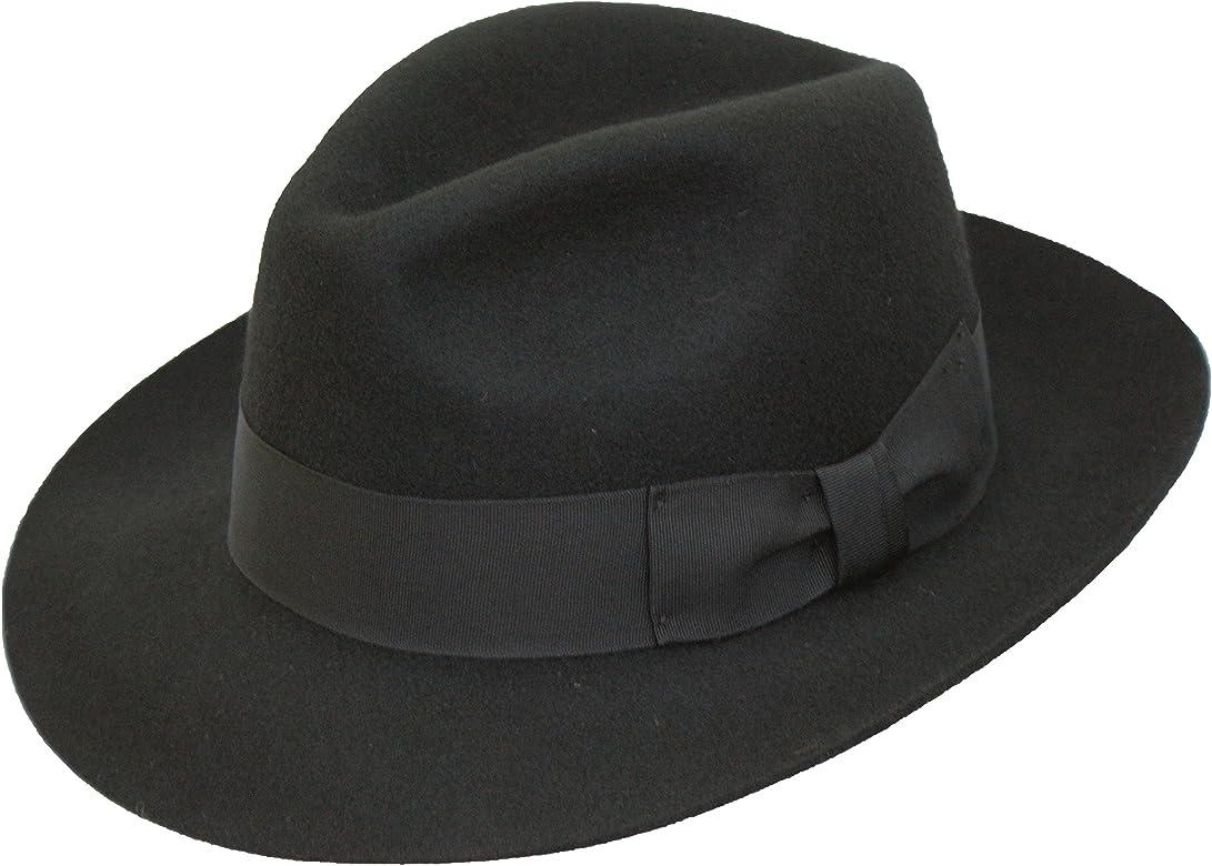 a5ac4449b Hand Made Gents Fedora Felt Trilby Hat With Wider Brim 100% Wool NEW