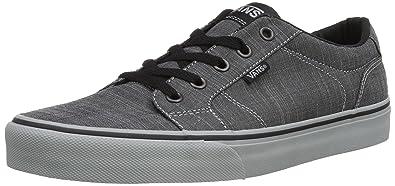 ca1225f0b3536d Vans Mens Bishop (F14 Textile) Skateboarding Shoes Black Grey VN000NLUDHV  (US 8