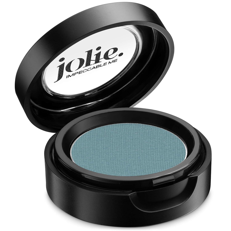 Jolie Cosmetics Powder Pressed Matte Eyeshadows – Cruelty Free, Vegan, Single Pan Eyeshadow 1.48g Vibrant Colors (Aquamarine)