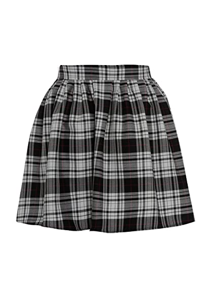 e75a3611c64 Miss Skinny New Womens RED Black Ladies Tartan Skater Mini Skirt  Elasticated Waist Size 8-20  Amazon.co.uk  Clothing