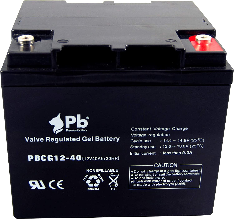 Premiumbattery Batería cíclica PBCG12-40 12V 40Ah Gel