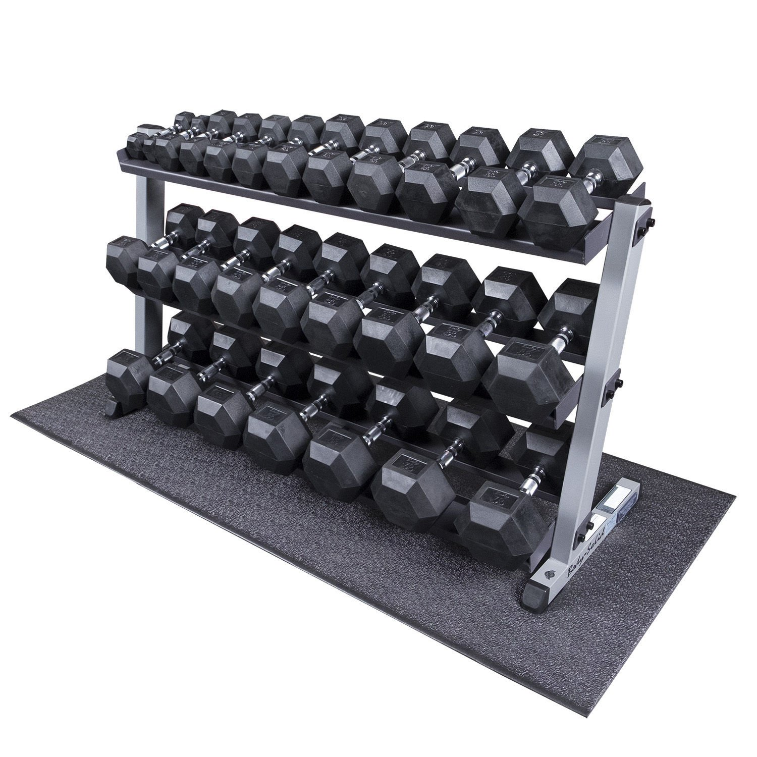 Heavy Duty Dumbbell Set with Rack 5-70 lbs Pairs by Body-Solid