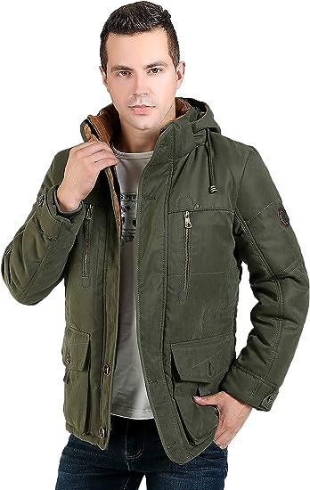 Game-Mens Padded-Safari-Parka Winter Jacket//Coat