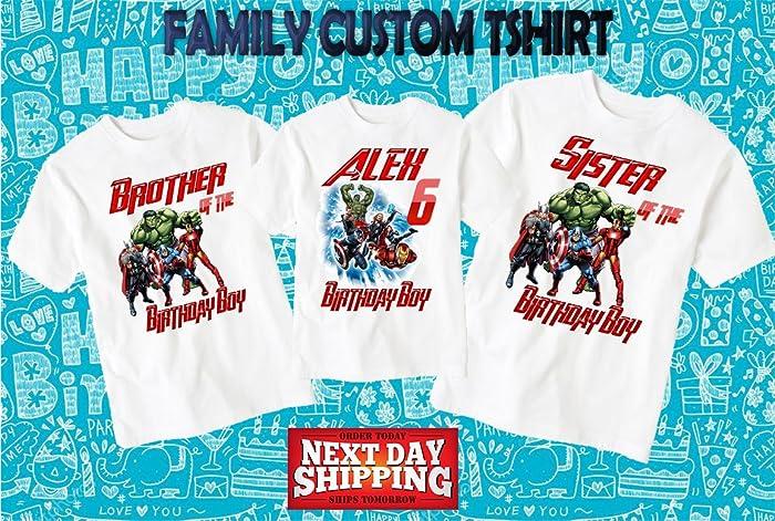 Amazon The Avengers Birthday Shirt Custom Personalized Family Shirts T D11 Handmade