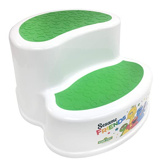 Sesame Street Two-Tier Step Stool, White