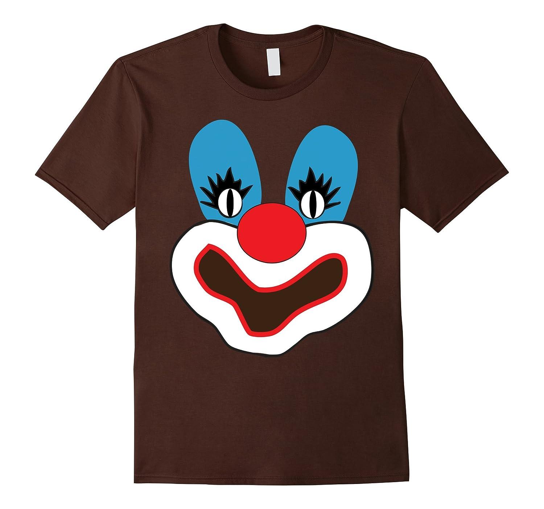 Clown Shirt Creepy Clown Face T Shirt Halloween Costume-mt