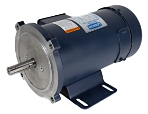 Leeson 108023.00 SCR Rated DC Motor, 56C Frame, C-Face Rigid Mounting, 1HP, 1750 RPM, 180V Voltage