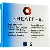 Sheaffer Cartouche pour Stylo à Plume Encre Bleue Reca en Étui de 6