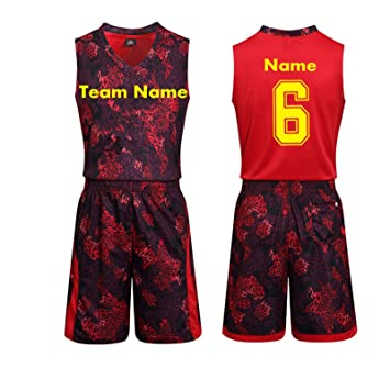 1def301bb2a Python Basketball Man Jersey-Silk NBA Jersey Set-Basketball Jersey  Customized the Number and Name (Red, XL): Amazon.ca: Sports & Outdoors