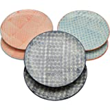 Nicola Spring Patterned Dinner Plates - 255mm (10 Inches) - 3 Designs - Box Of 6