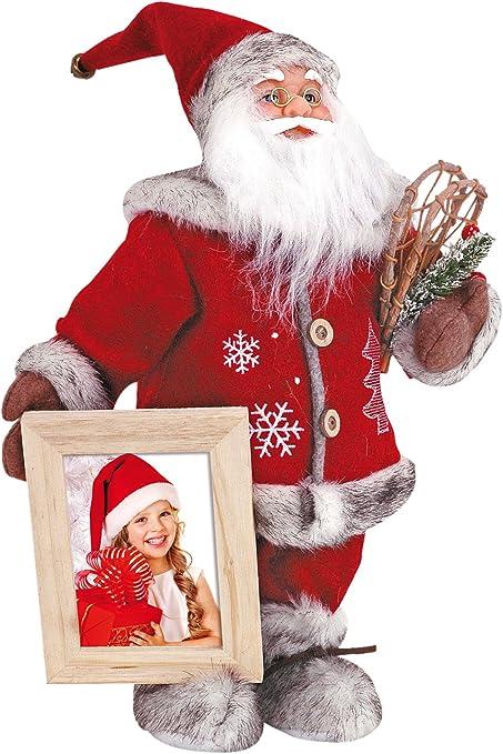 Babbo Natale Peluche.Zep Portafoto Peluche Babbo Natale Babbo Natale Finland Ck477 Addobbi Natalizi Amazon It Casa E Cucina