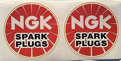 2 NGK Spark Plug Die Cut Decals by SBD Decals