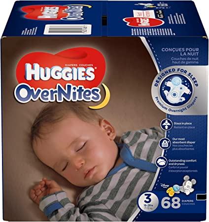 Huggies OverNites Night Time Baby Diapers 80 Count Size 3