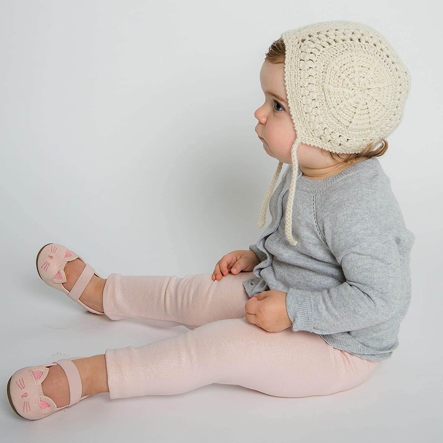 Hand-Knit 100% Organic Alpaca Wool | Loreto Bonnet Hat (Cream) by Surhilo | Soft, Quality, Hypoallergenic | The Perfect and Eco-Friendly Way to Keep Your Baby and Toddler Cozy and Comfortable