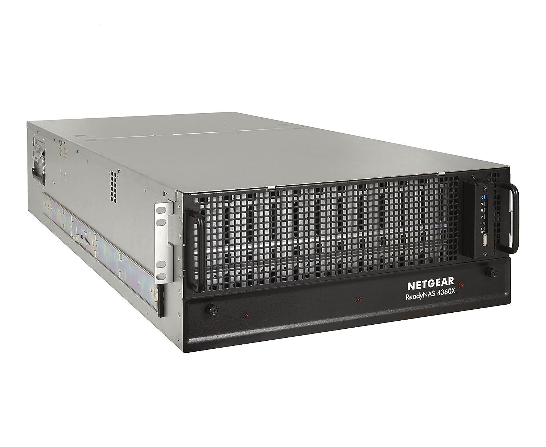 Netgear ReadyNAS RR4360S0-10000S - Dispositivo de Almacenamiento en Red 10GBE, de Alta Capacidad, Serie de Montaje en Rack para Empresas, 4U de 60 bahías, 10 Gbps LAN SFP + óptico, sin Discos