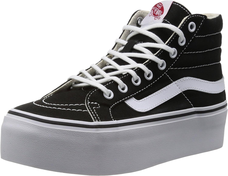 Vans Sk8-Hi Platform Canvas Black White