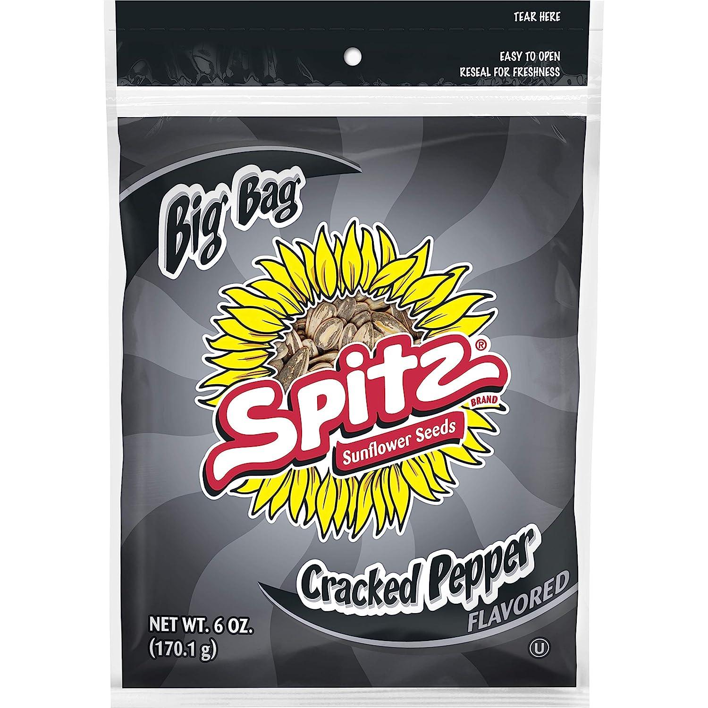 Spitz Sunflower Seeds, 6 Oz, Cracked Pepper, 9 Count
