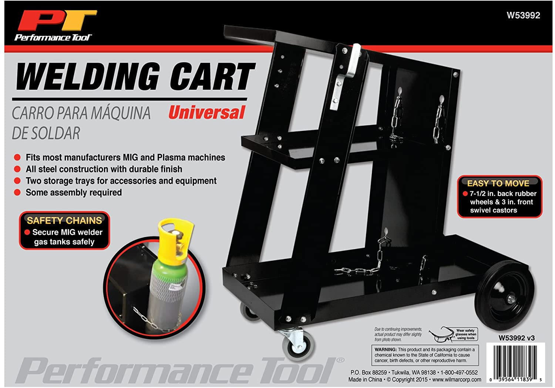 Universal Black Universal Welding Cart Performance Tool W53992 Welding Cart