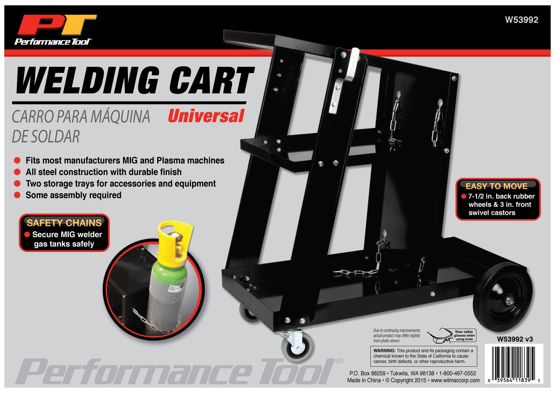 Performance Tool W53992 Welding Cart, Universal, Black Universal Welding Cart by Performance Tool (Image #3)