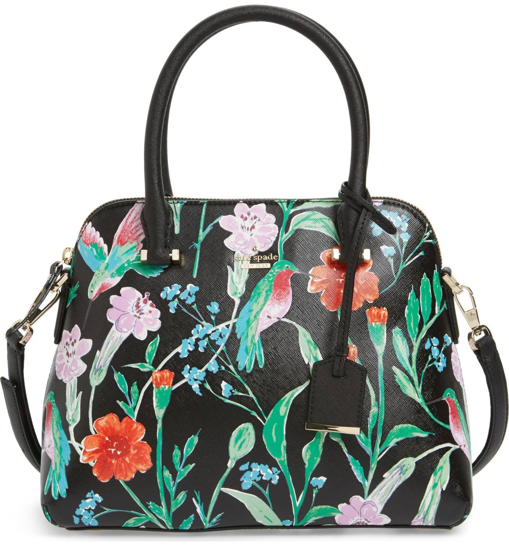kate spade new york Cameron Street Jardin Maise Shoulder Bag (Black Multi)