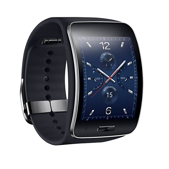 Samsung Galaxy Gear S R750W Smart Watch With Curved Super Amoled Display (Black)