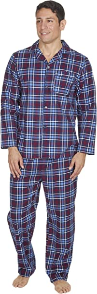 c98475a0a5 Cargo Bay Mens Brushed Pure 100% Cotton Pyjamas Winter Warm Flannel Thermal  (Medium