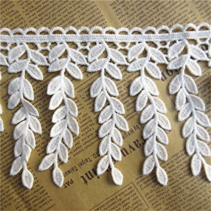Vintage Blue Fringe Lace Edge Trim Ribbon Crochet Applique Sewing Fabric Crafts