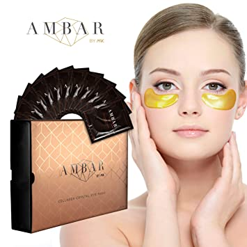 Amazon.com: Máscara de ojos de cristal de colágeno de AMBAR ...