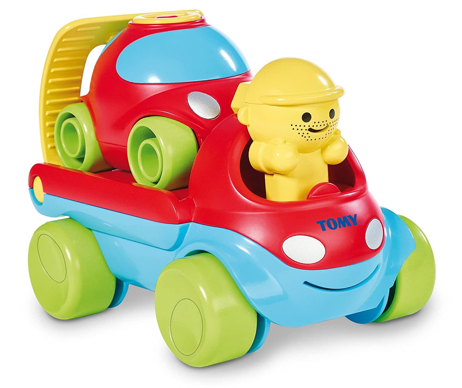 TOMY Toomies Fix and Load Tow Truck - Rescue Play Wind Up Toy Vehicles - Suitable From 1 year E72422