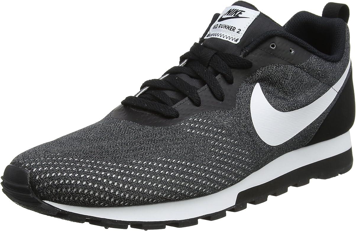 Nike MD Runner 2 Eng Mesh, Zapatillas de Entrenamiento para Hombre, Gris (Black/White-Gunsmoke 004), 47 EU: Amazon.es: Zapatos y complementos