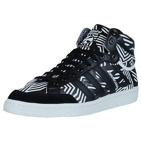 new styles 6e46f 4fb9b Adidas Americana HI 88 Retro Basketball Shoes Running White Black D65683   Amazon.ca  Shoes   Handbags