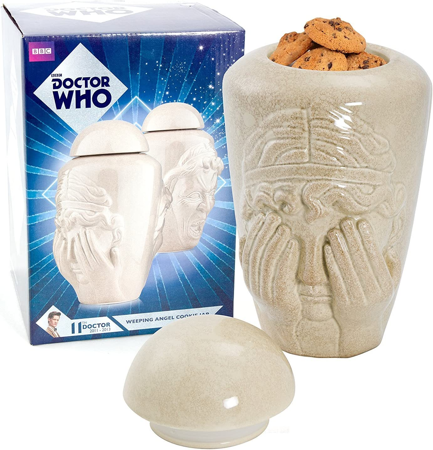 Doctor Who Weeping Angel Cookie Jar - Two Face Design, Don't Blink