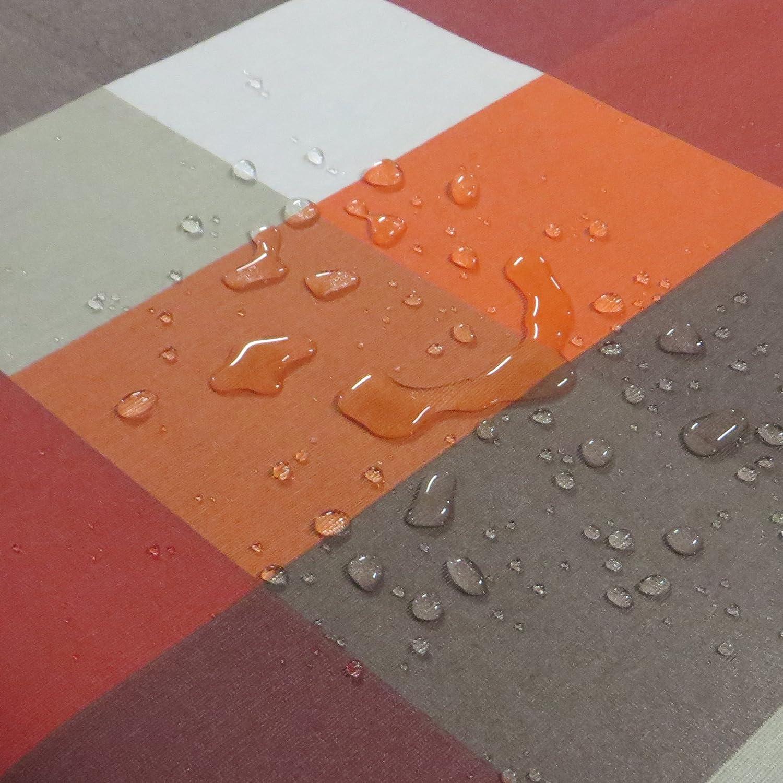 NL NL NL Meterware Stoff Farbe, Breite & Länge wählbar - Beige Sand Natur TEFLON Eckig 140 x 270 bzw. 270x140 cm Tischdecke Kein Wachstuch Gartentischdecke Lotus Effekt wasserabweisend Lebensmittelecht 21ae96