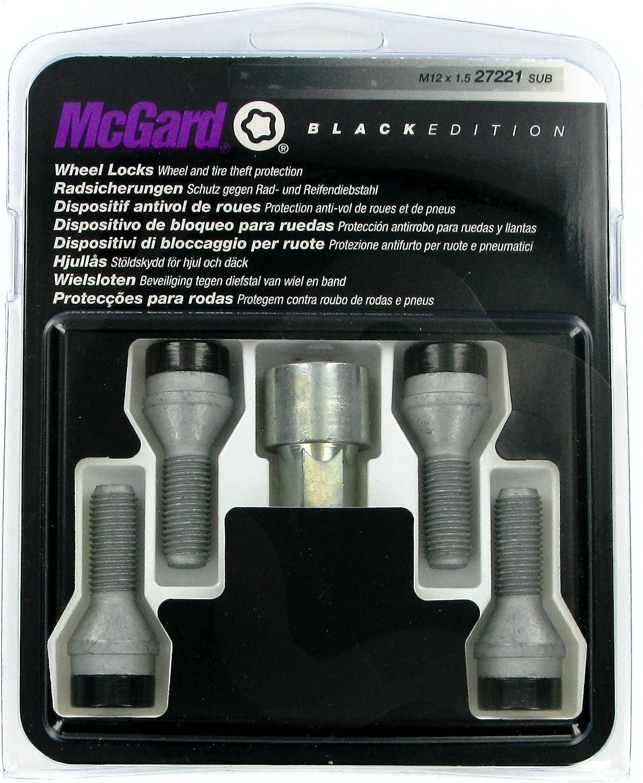McGard 27204 SUB Antifurto per Ruote Black M12 x 1.5 conico 24.0 mm  Lunghezza SW17