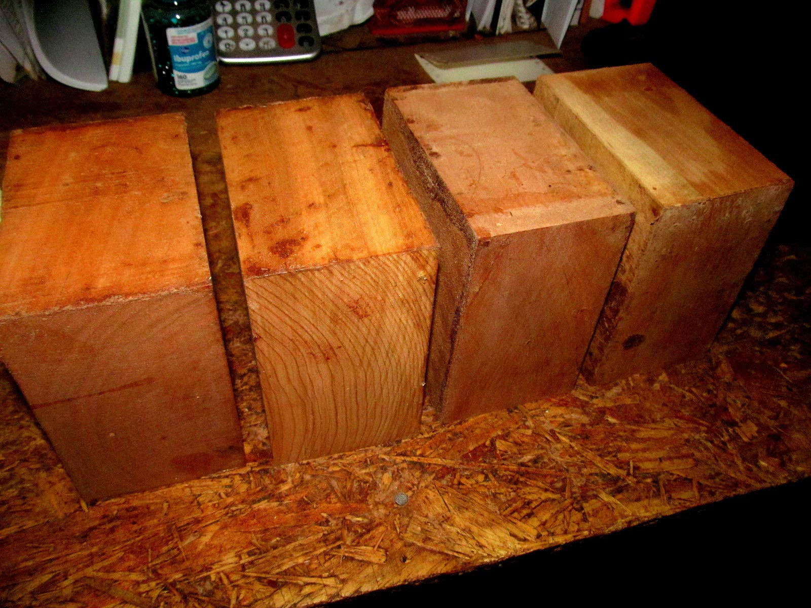 Four KILN Dried Black Cherry Bowl Blanks Lathe Turning Block 6 X 6 X 3 INCH by Workmas
