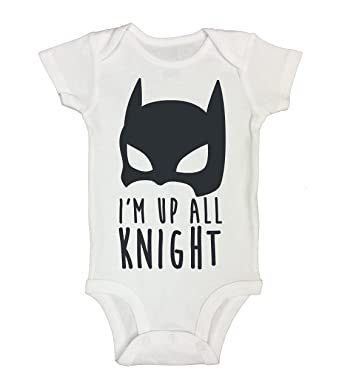 """650aa39d8 Cute Baby Onesie """"I'm Up All Knight"""" Batman Inspired RB Clothing"""