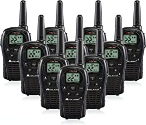Midland LXT500VP3 Two Way Radio, Rechargeable Batteries and Chargers (10 Pack)