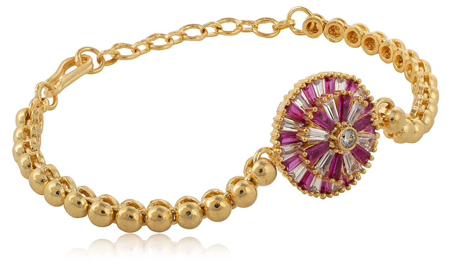 AakarShana Jewels Casual as Well as Party wear Bracelet with Attractive Craftmanship and Long Lasting Plating