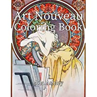 Art Nouveau Coloring Book: 30 Coloring Pages for Adults of Alphonse Mucha Illustrations