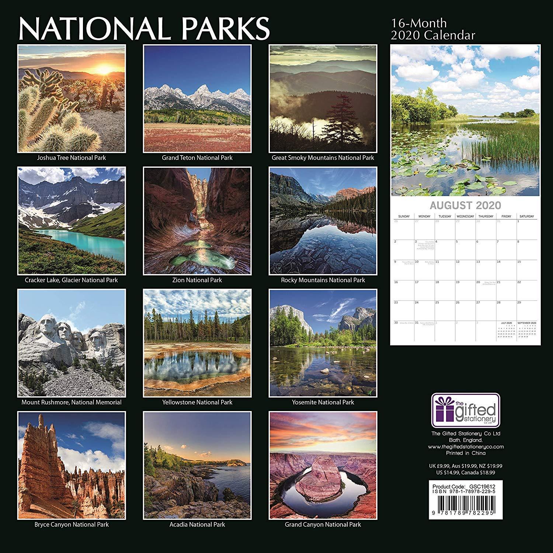 National Parks The Gifted Stationery quadrato calendario da parete 2020 GSC19612