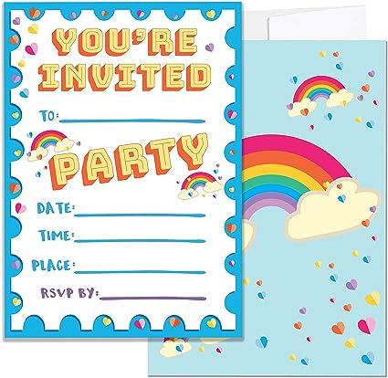 Amazon.com: Invitaciones de cumpleaños para niñas, niños ...