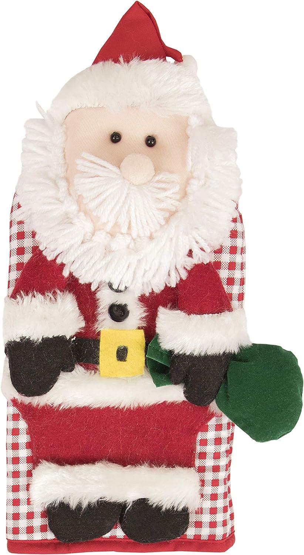 "Ritz Kitchen Friends Novelty Cotton Oven Mitt, Decorative Item Only, Great Christmas Gift, Kitchen Decoration, Christmas Present, 6"" x 11"", Santa, Single Unit"