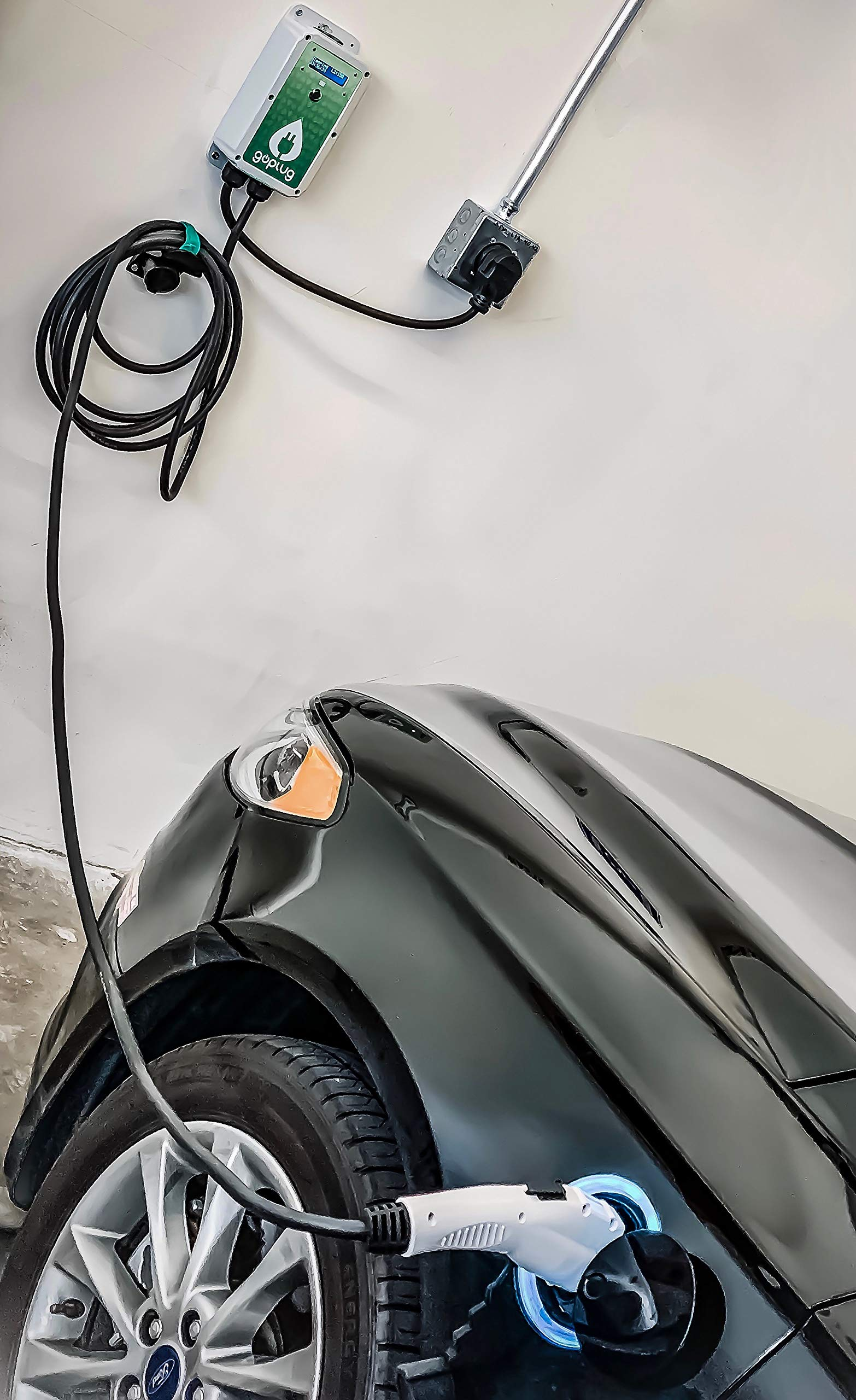 GoPlug Pro 40 Amp EV Charger: Compact Light Outdoor/Indoor Multi-Voltage 120-240V Level 2 Electric Vehicle Charging Station With Ultraflexible 25-Foot EVSE J1772 Cable, Color Display, WiFi, NEMA 14-50 by GoPlug EV Charger (Image #7)